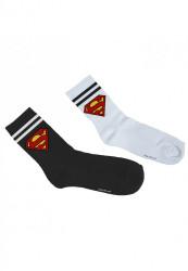 Pánske ponožky Merchcode Superman Socks Double Pack 42-46: 43-46
