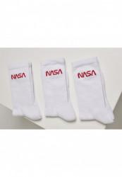 Pánske ponožky MR.TEE NASA Worm Logo Socks 3-Pack Farba: wht/wht/wht,