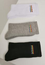 Pánske ponožky MR.TEE Pride Socks 3-Pack Farba: wht/gry/blk,