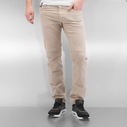 Pánske rifle Rocawear / Straight Fit Jeans Quilted in khaki Size: W 28