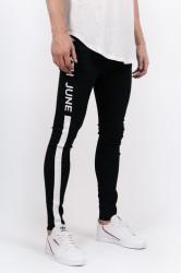 Pánske rifle Sixth June Band Print Jeans black white Farba: Biela,Čierna,