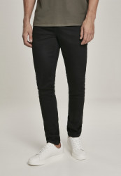 Pánske rifle URBAN CLASSICS Slim Fit Jeans black raw Farba: black raw,