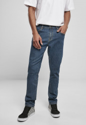 Pánske rifle URBAN CLASSICS Slim Fit Jeans mid indigo washed