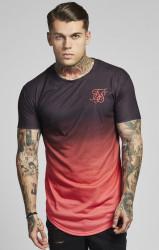 Pánske ružovočierne tričko s krátkym rukávom Sik Silk 474656e2dea