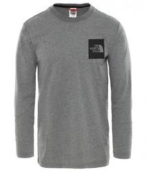 Pánske šedé tričko s dlhým rukávom The North Face