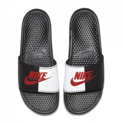 Pánske šľapky Nike Benassi Just Do It Black Game Red White