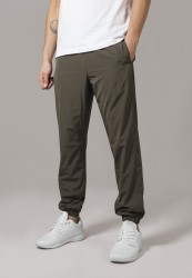 Pánske šušťákové nohavice URBAN CLASSICS TNylon Training Pants olivové