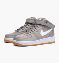 Pánske tenisky Nike Air Force 1 Mid `07 Shoe Light Taupe White Gum Brown