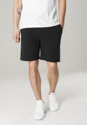 Pánske teplákové kraťasy URBAN CLASSICS Basic Terry Shorts čierne