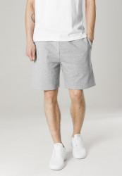 Pánske teplákové kraťasy URBAN CLASSICS Basic Terry Shorts šedé
