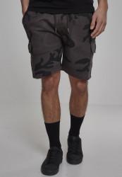 Pánske teplákové  kraťasy Urban Classics Camo Cargo Terry Shorts dark camo