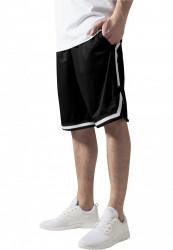 Pánske teplákové kraťasy URBAN CLASSICS Stripes Mesh Shorts blkblkwht