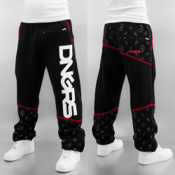 Pánske tepláky Dangerous DNGRS Crosshair Sweat Pants Jet Black/Chili Pepper Size: 6XL
