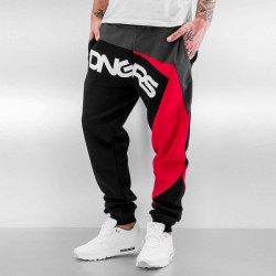 Pánske tepláky Dangerous DNGRS Race City Sweatpants Black/Red Size: 5XL