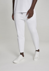 Pánske tepláky URBAN CLASSICS Cropped Heavy Pique Pants biele