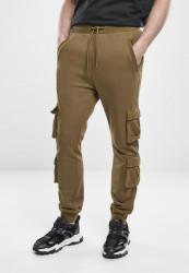 Pánske tepláky URBAN CLASSICS Double Pocket Terry Sweat Pants summerolive