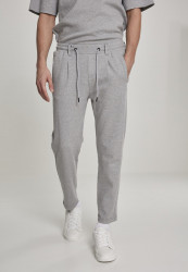 Pánske tepláky URBAN CLASSICS Formula Cropped Peached Interlock Pants grey