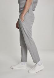 Pánske tepláky URBAN CLASSICS Formula Cropped Peached Interlock Pants grey #1
