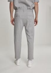Pánske tepláky URBAN CLASSICS Formula Cropped Peached Interlock Pants grey #2
