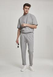 Pánske tepláky URBAN CLASSICS Formula Cropped Peached Interlock Pants grey #4