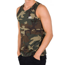 Pánske tielko Alpha Industries Small logo Tank Top Wood Camo Size: 3XL