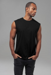 Pánske tielko URBAN CLASSICS Open Edge Sleeveless Tee black