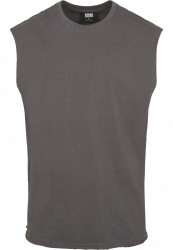 Pánske tielko URBAN CLASSICS Open Edge Sleeveless Tee darkshadow