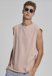 Pánske tielko URBAN CLASSICS Open Edge Sleeveless Tee light rose