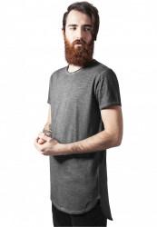 Pánske tmavošedé  tričko URBAN CLASSICS LONG BACK SHAPED SPRAY DYE TEE Farba: Šedá,