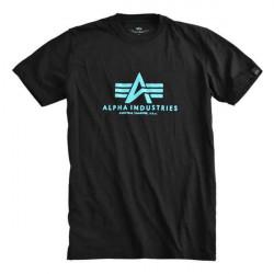 Pánske tričko Alpha Industries Basic T-Shirt čierne