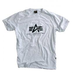 Pánske tričko Alpha Industries Basic T-Shirt GREY HEATHER