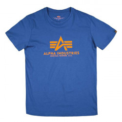 Pánske tričko Alpha Industries Basic T-Shirt modré