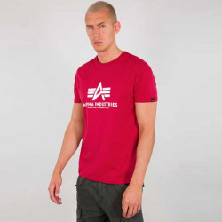 Pánske tričko Alpha Industries Basic T-Shirt red