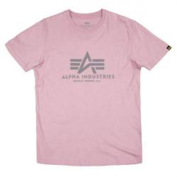Pánske tričko Alpha Industries Basic T-Shirt ružové