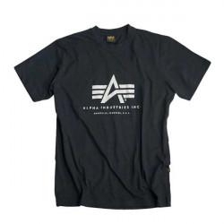 Pánske tričko Alpha Industries Basic Tee Black Size: 3XL