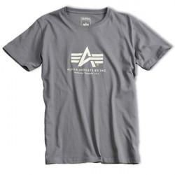 Pánske tričko Alpha Industries Basic Tee Grey Size: 3XL
