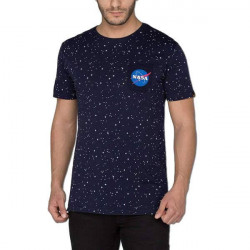 Pánske tričko Alpha Industries Starry T-Shirt Rep. Blue