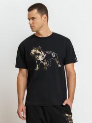 Pánske tričko Amstaff Logo 2.0 T-Shirt - schwarz