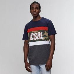 Pánske tričko Cayler & Sons t-shirt Black Label Blocked Tee navy / heather grey Size: XL