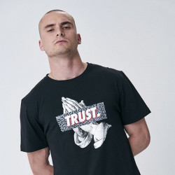 Pánske tričko Cayler & Sons WHITE LABEL t-shirt Jay Trust Tee black / grey Size: XL