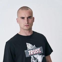 Pánske tričko Cayler & Sons WHITE LABEL t-shirt Jay Trust Tee black / grey Size: XL #2