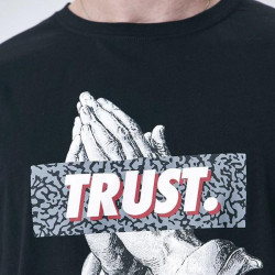 Pánske tričko Cayler & Sons WHITE LABEL t-shirt Jay Trust Tee black / grey Size: XL #3