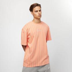 Pánske tričko Karl Kani Small Signature Pinstripe Tee Coral
