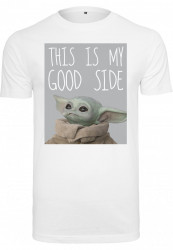 Pánske tričko MERCHCODE Baby Yoda Good Side Tee Farba: white,