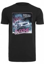Pánske tričko MERCHCODE Back To The Future Outatime Tee Farba: black, Grösse: XXL