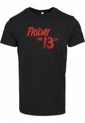 Pánske tričko MERCHCODE Friday The 13th Logo Farba: black,