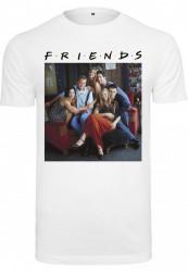 Pánske tričko MERCHCODE Friends Group Photo Tee Farba: white,