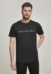 Pánske tričko MERCHCODE Friends Logo EMB Tee Farba: black,