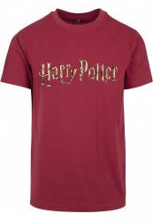 Pánske tričko MERCHCODE Harry Potter Logo Tee Farba: burgundy,