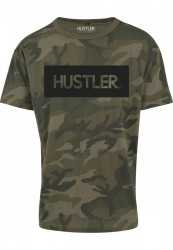 Pánske tričko Merchcode Hustler Logo Camo Tee